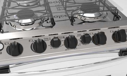 Medidas do Fogão a Gás Realce 4 bocas Cronos Grill