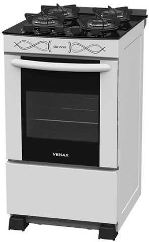 Medidas do fogão Venax Da Vinci Vitreo Branco 4Q