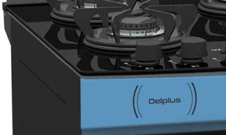 Medidas do Fogão de Piso a Gás Venax Delplus Vitreo 4Q Azul