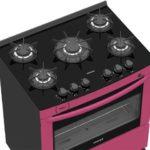 Medidas do Fogão de Piso a Gás Venax Delplus Vitreo 5Q Pink