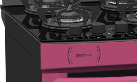 Medidas do Fogão de Piso a Gás Venax Delplus Vitreo 4Q Pink