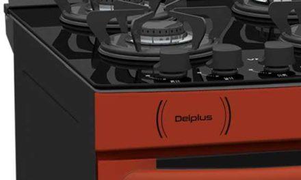 Medidas do Fogão de Piso a Gás Venax Delplus Vitreo 4Q Vermelho