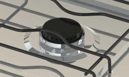 Medidas do Fogão Portátil a gás 2Q Venax Flamalar com Tampa Bege