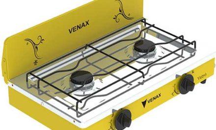 Medidas do Fogão Portátil a gás 2Q Venax Flamalar Vetrô Amarelo