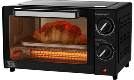 Medidas do Forno elétrico BlackandDecker 9L – 1000W – FT95