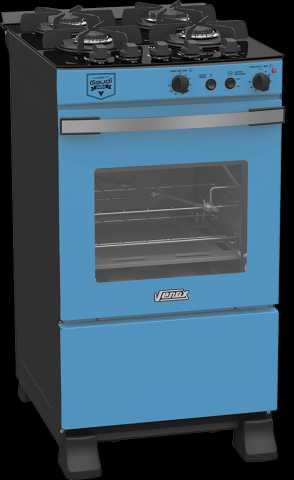 Medidas do fogão Venax Gaudí Vetrô Vítreo Azul 4 queimadores