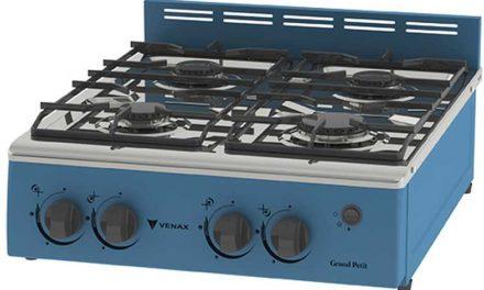 Medidas do Fogão Portátil a gás 4Q Venax Grand Petit Vetrô 4 Azul