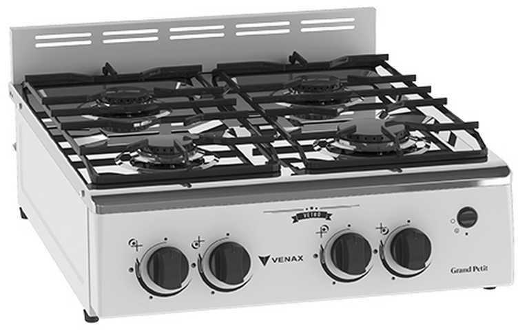 Medidas do fogão portátil Venax Grand Petit Vetrô 4 Branco