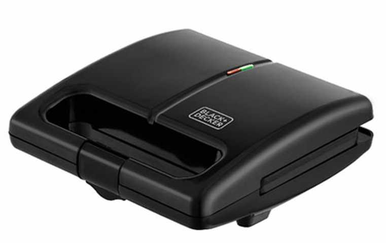 Medidas do grill elétrico e sanduicheira Black+Decker GS750