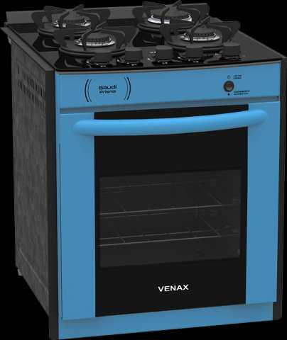 Medidas do fogão de embutir Venax 4 queimadores - Gaudi Prisma Vitreo Azul