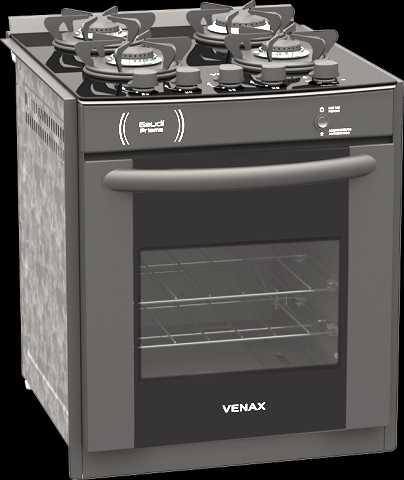 Medidas do fogão de embutir Venax 4 queimadores - Gaudi Prisma Vitreo Preto