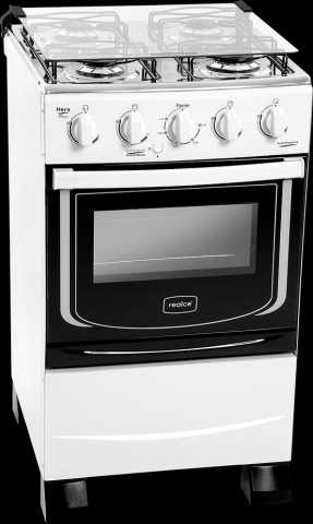 Medidas do fogão a gás Realce - Hera Plus 4 bocas