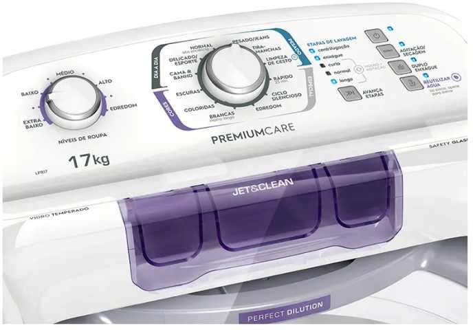 Lavadora de roupas Electrolux LPR17 - resolução de problemas