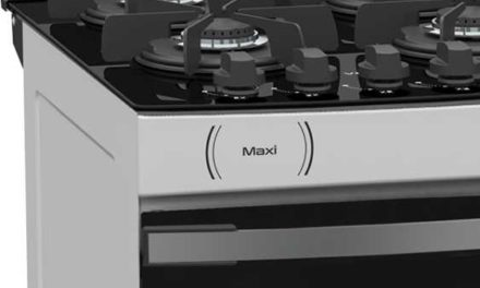 Medidas do Fogão de Piso a Gás Venax Maxi Vítreo 4Q Branco