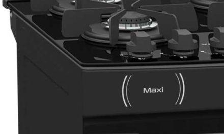 Medidas do Fogão de Piso a Gás Venax Maxi Vítreo 4Q Preto