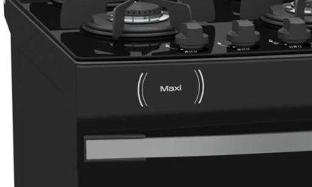 Medidas do Fogão de Piso a Gás Venax Maxi Vítreo 6Q Preto