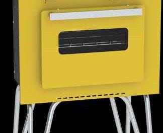 Medidas do Fogão Portátil a gás 2Q Venax Mini Cook Amarelo