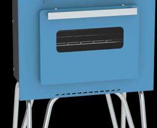 Medidas do Fogão Portátil a gás 2Q Venax Mini Cook Azul