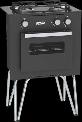 Medidas do fogão portátil Venax Mini Cook Preto