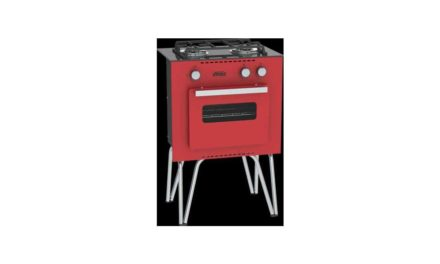 Medidas do Fogão Portátil a gás 2Q Venax Mini Cook Vermelho