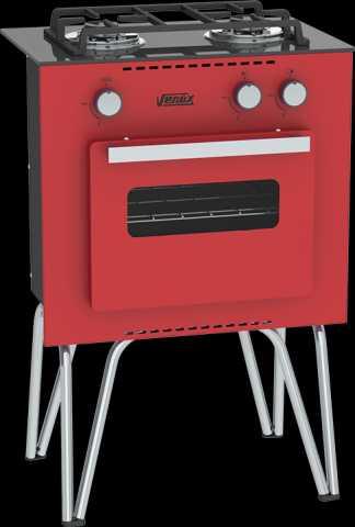 Medidas do fogão portátil Venax Mini Cook Vermelho