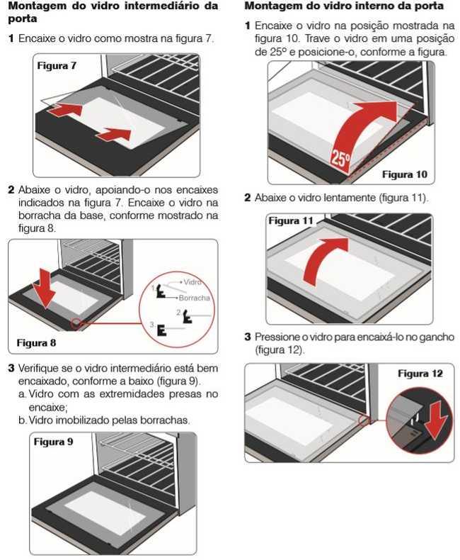 como limpar o forno elétrico electrolux oe8tx - montando vidro da porta