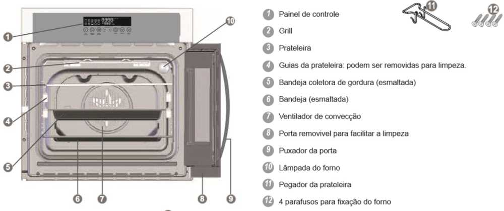 Como limpar o forno de embutir Electrolux - OE9SX - conhecendo o produto