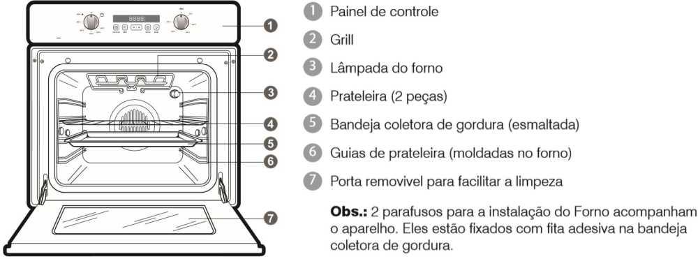Como limpar o forno de embutir Electrolux - OG8MX - conhecendo o produto - img