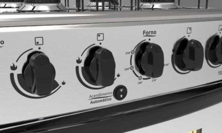 Medidas do Fogão a Gás Realce 4 bocas Olimpo