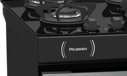 Medidas do Fogão de Piso a Gás Venax Picasso Vítreo 6Q Preto