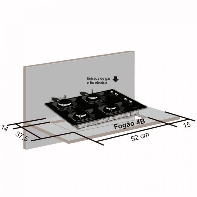Instalação do cooktop Mueller - nicho