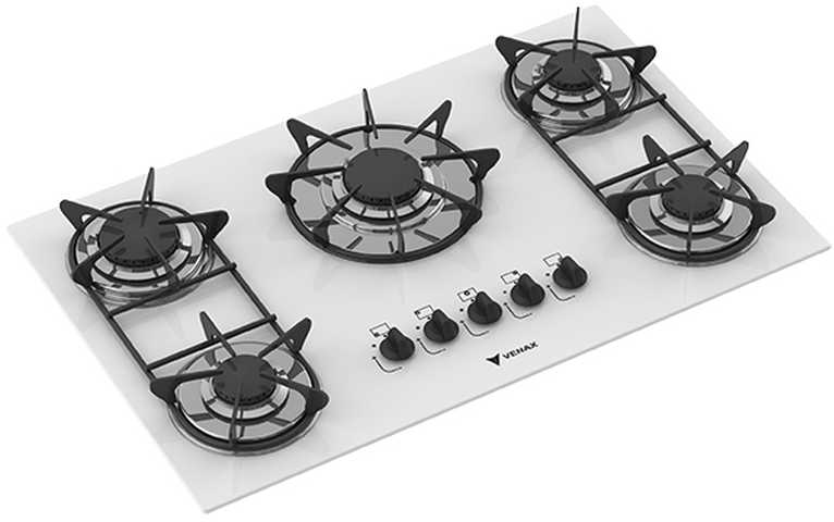 Medidas do cooktop Venax - Sognare 5 Branco
