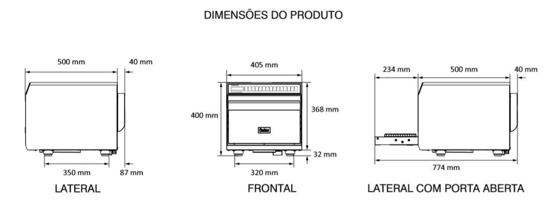 Medidas de microondas profissional Prática - Finisher - Detalhado