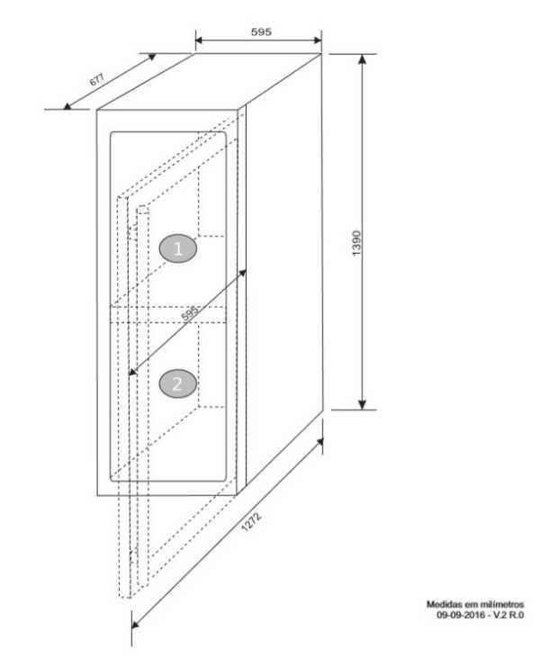 Instalação da Adega Elettromec 110 garrafas Dual Zone - Instalação