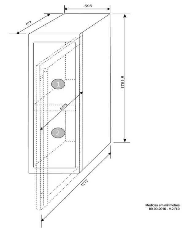 Instalação da Adega Elettromec 154 garrafas Dual Zone - Instalação