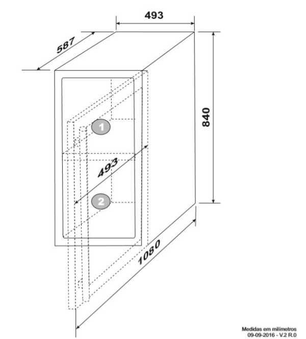 Instalação da Adega Elettromec 34 garrafas Dual Zone - Espaço para instalação