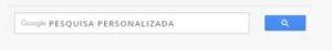 Caixa de pesquisa personalizada google