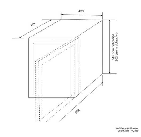 Instalação da Adega Elettromec 181 garrafas Dual Zone - Instalação