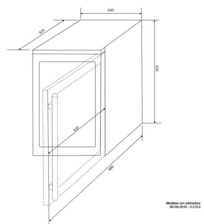 Instalação do Frigobar Elettromec 88 litros