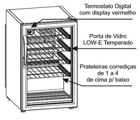 Adega climatizada Venax NGV100 - Conhecendo o produto