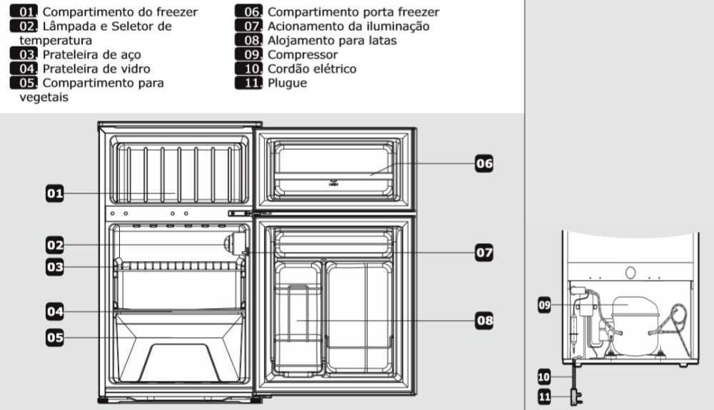 Imagem - Frigobar Philco 85 litros Duplex - PH89