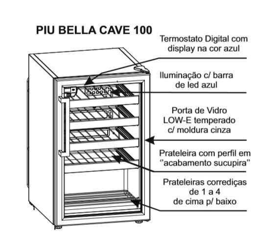 Adega climatizada Venax Piu Bella 100  - Conhecendo o produto