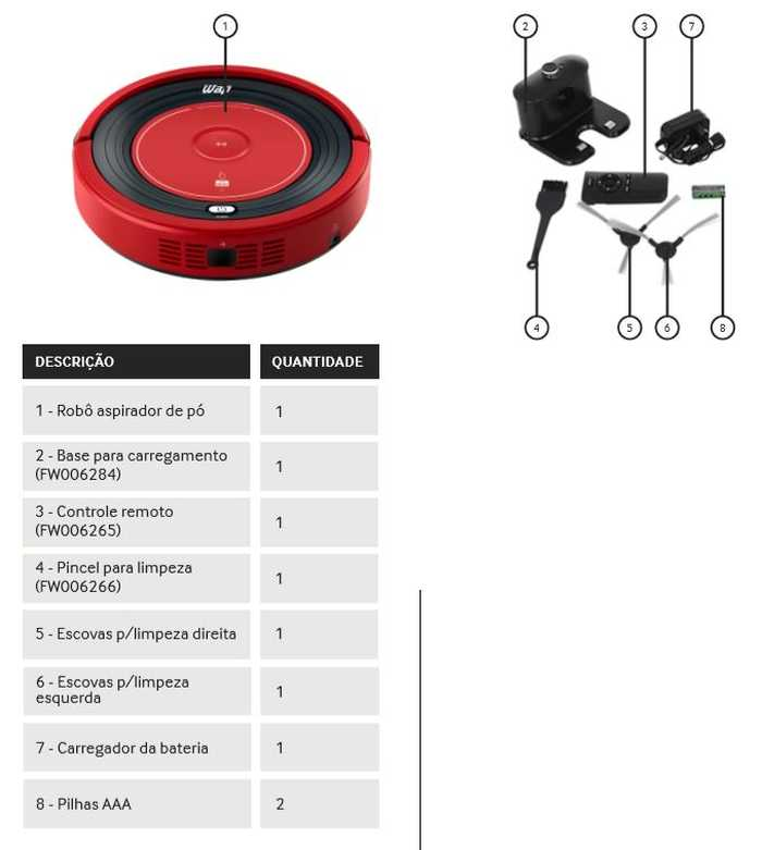 Robô aspirador de pó WAP rob W300 - conhecendo o produto