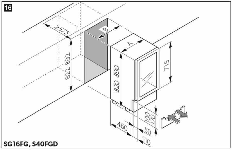 Adega Climatizada Dometic S16FG - Nicho de Instalação