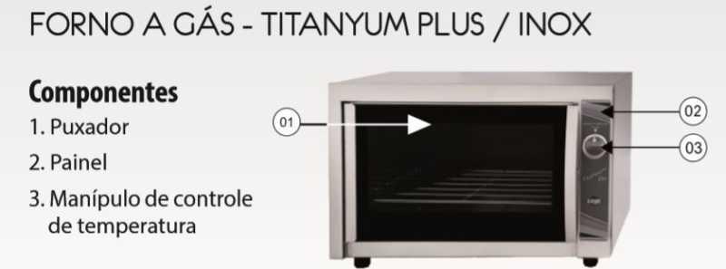 Forno a gás Layr Titanyum Plus Industrial - Conhecendo o produto