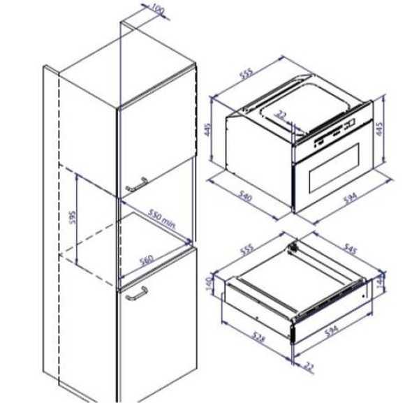 Forno combinado com micro-ondas Tecno 34L - TK34EX - Nicho de instalação