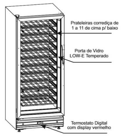 Adega Venax 285L - Conhecendo o produto