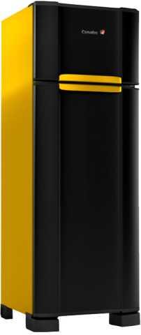 medidas da geladeira amarelo esmaltec RCD38 WAY