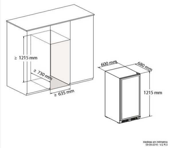 Instalação da Adega Elettromec 87 garrafas Dual Zone - Instalação