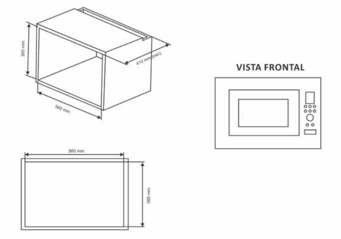 Instalação do microondas Fogatti m230 - nicho
